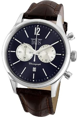 Davis Men's Analogue Quartz Watch with Leather Strap 1751