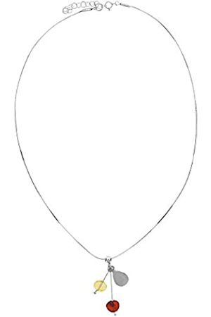 Nature d'Ambre 31710179 - Silver 925 and Amber Short Necklace - 42 cm