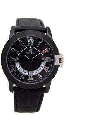 Oskar Emil Quartz analogue ANTIBES leather men's watch