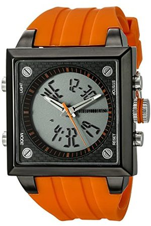 CEPHEUS Men's Quartz Watch with Dial Analogue - Digital Display and Silicone Strap CP900-690C