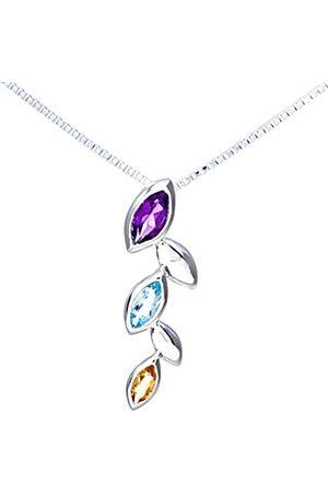 Citerna Multi Stone Ladies Pendant and 41 cm + 5 cm Extender Chain