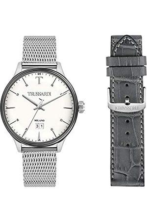 Trussardi Mens Analogue Quartz Watch with Stainless Steel Strap R2453130003