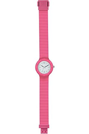 Hip Ladys' Numbers Collection Watch Collection Mono-Colour Silver dial 3 Hands Quartz Movement and Silicon Pink Strap HWU0958