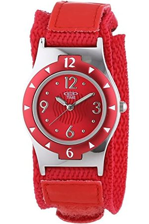 At Time Children's Quartz Watch with Dial Analogue Display and Fabric Strap 454-1806-77