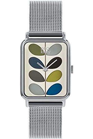 Orla Kiely Unisex Adult Analogue Classic Quartz Watch with Stainless Steel Strap OK4083