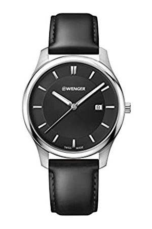 Wenger Men's City Classic - Swiss Made Analogue Quartz Stainless Steel Leather Watch 01.1441.101