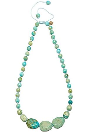 Lola Rose Women's Base Metal Ipanema Short Faceted Nugget Lime Butter Calcite Necklace of Length 50-70 cm