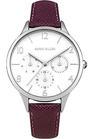 Karen Millen Women's Analogue Quartz Watch with Leather Strap KM155V
