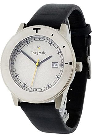 Tectonic Men's Quartz Watch with Dial Analogue Display and Leather Strap 41-6106-84
