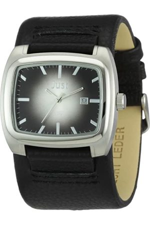 Just Watches Men's Quartz Watch 48-S1920-BK with Leather Strap
