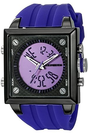 CEPHEUS Men's Quartz Watch with Dial Analogue - Digital Display and Silicone Strap CP900-633B