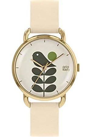 Orla Kiely Unisex Adult Analogue Classic Quartz Watch with Leather Strap OK2238