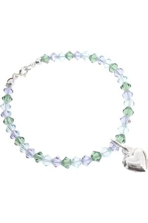 "Chic A Boo Children'S Sterling Heart And Swarovski Crystal 6"" Bracelet"