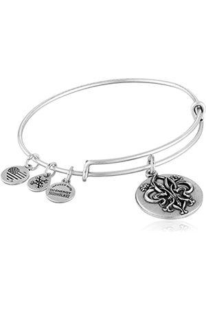 Alex And Ani Fleur de Lis Expandable Charm Bracelet-Tone