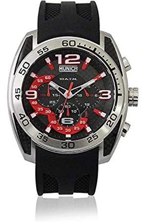 Munich Unisex Adult Analogue Quartz Watch with Rubber Strap MU+133.1A