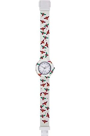 Hip HIP-HOP Ladys' Animals Addicted Watch Collection Mono-Colour White dial 3 Hands Quartz Movement and Silicon White Strap HWU0867