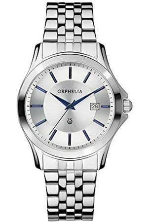 ORPHELIA Men's Quartz Watch with Black Dial Analogue Display and Stainless Steel OR53770988