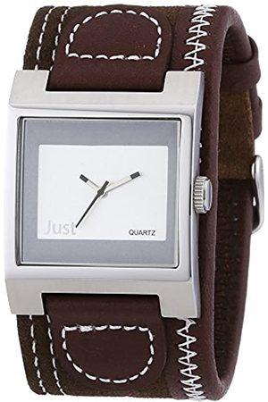 Just Watches Men's Wristwatch Analog Leather Quartz 48-S1878-BR