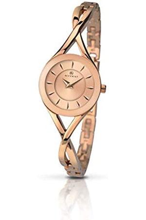 Accurist Womens Analogue Classic Quartz Watch with Brass Strap 8137.01