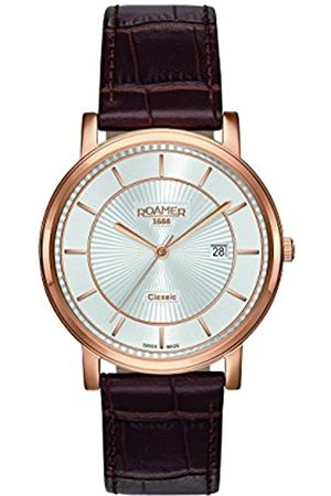 Roamer Men Watches - Men's Quartz Watch with Dial Analogue Display and Leather Strap 709856 49 17 07