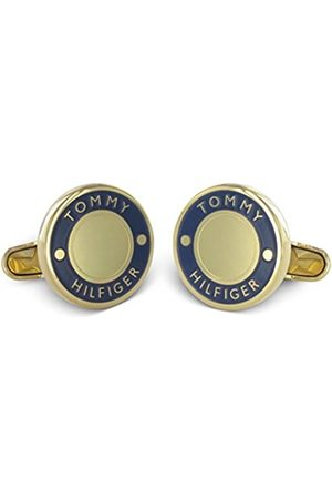 Tommy Hilfiger Men's Gold-Plated Stainless-Steel Cufflinks with Enamel