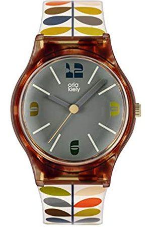 Orla Kiely Women Watches - Women's Analogue Analog Quartz Watch with Plastic Strap OK2338