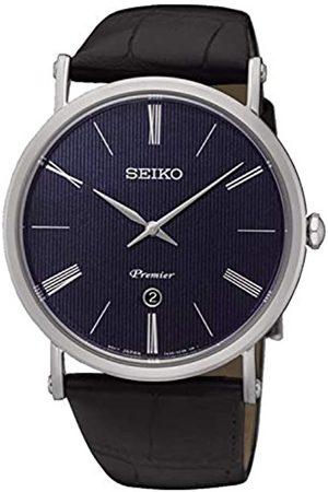 Seiko Mens Analogue Quartz Watch with Leather Strap SKP397P1
