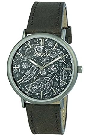 Snooz Men's Analogue Quartz Watch with Leather Strap Saa1041-75