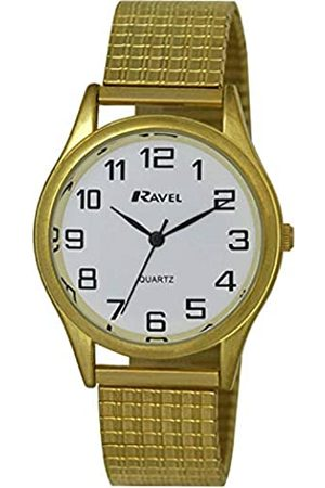 Ravel Easy Read Watch on Expandable Men's Quartz Watch with Dial Analogue Display and Stainless Steel Plated Bracelet R0301071S