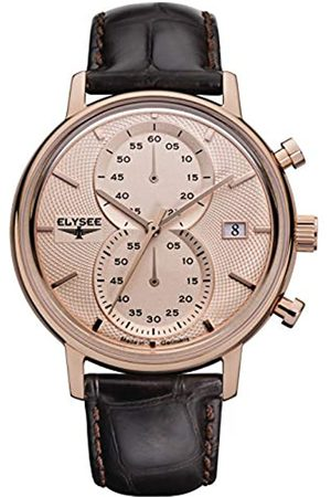 ELYSEE Unisex Adult Analogue Quartz Watch with Leather Strap 83821