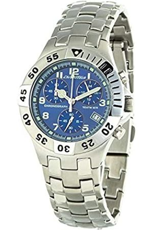 Chronotech Unisex Adult Chronograph Quartz Watch with Stainless Steel Strap CT7255L-02