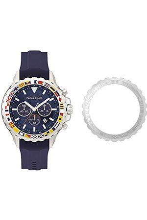 Nautica Mens Analogue Quartz Watch with Silicone Strap NAPBLI001
