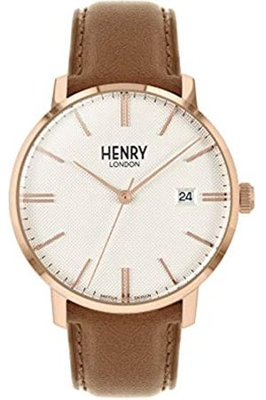 Henry Unisex Adult Analogue Classic Quartz Watch with Leather Strap HL40-S-0350