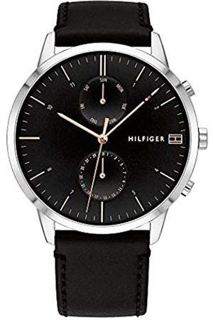 Tommy Hilfiger Men's Analogue Quartz Watch with Leather-Calfskin Strap 1710406