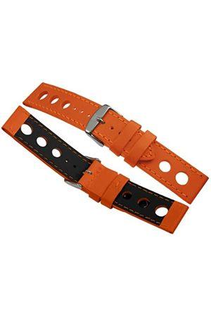 Davis B0323-22mm High Quality Orange Racing Rallye Perforated Watch Strap