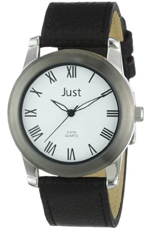 Just Watches Men's Quartz Watch 48-S10122WH-BK with Leather Strap