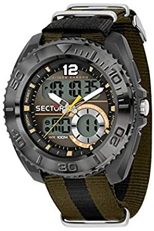 Sector No Limits Mens Analogue-Digital Watch with Nylon Strap R3251521002