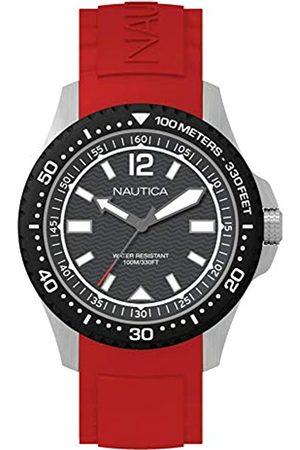 Nautica Mens Analogue Quartz Watch with Silicone Strap NAPMAU003