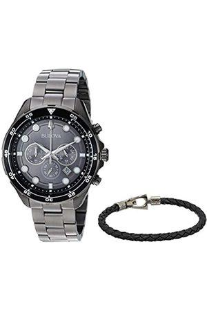 BULOVA Men Watches - Mens Chronograph Quartz Watch with Stainless Steel Strap 98K104