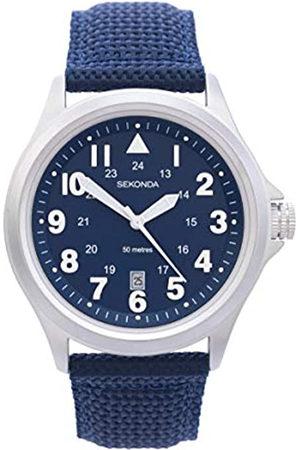 Sekonda Mens Analogue Classic Quartz Watch with Nylon Strap 1715