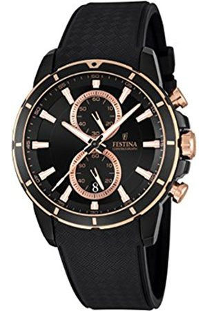 Festina Men's Quartz Watch with Dial Chronograph Display and Rubber Strap F16852/1