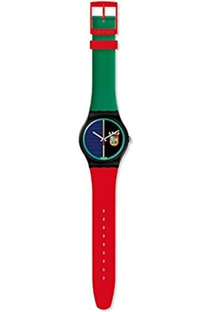 Swatch Mens Analogue Quartz Watch with Silicone Strap SUOB169