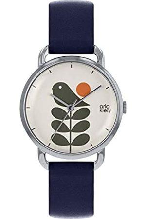 Orla Kiely Unisex Adult Analogue Classic Quartz Watch with Leather Strap OK2237