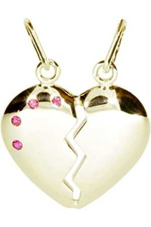 InCollections 4000201368100 'Broken Heart' Pendant 925 Sterling with Synthetic Ruby