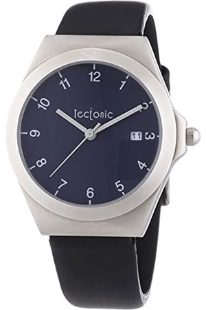 Tectonic Unisex Quartz Watch with Dial Analogue Display and Leather Strap 41-6103-99