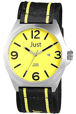 Just Watches Men's Watch XL Analogue Quartz Fabric ~ 48 S3926 YL