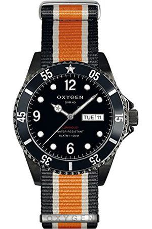 Oxygen Moby Dick 40 Mens Quartz Watch with Dial Analogue Display and Nylon Strap EX-D-MBB-40-NN-BLIVOR