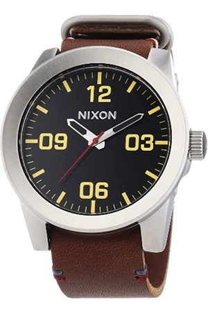 Nixon Men's Quartz Watch Analogue Display and Leather Strap A243019-00