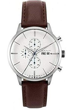 GANT Mens Analogue Quartz Watch with Leather Strap 7630043923658