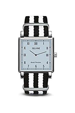Selvine Unisex-Adult Analogue Classic Quartz Watch with Nylon Strap SPRE1